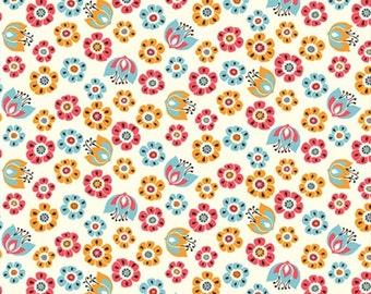 Organic Cotton Fabric - Birch Frolic - Tulip Toss