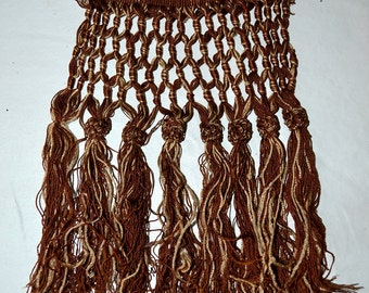 Antique Woven Tassel Trim Piece