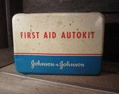 1942 First Aid Kit Original Content AutoKit Johnson & Johnson