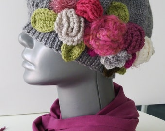 Knitting beret