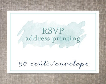 RSVP Address Printing