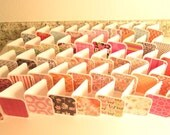 HANDMADE MINI NOTES - 3x3 Variety Pack of 50 Rounded Corner folded cards, Gift Tags, Thank You, Thanks for Your Order