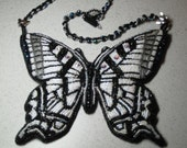 "Bead Embroidery Butterfly Necklace EBEG Bead Fest ""Opposites Attract"""