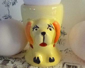 Vintage Yellow Dog Egg Cup