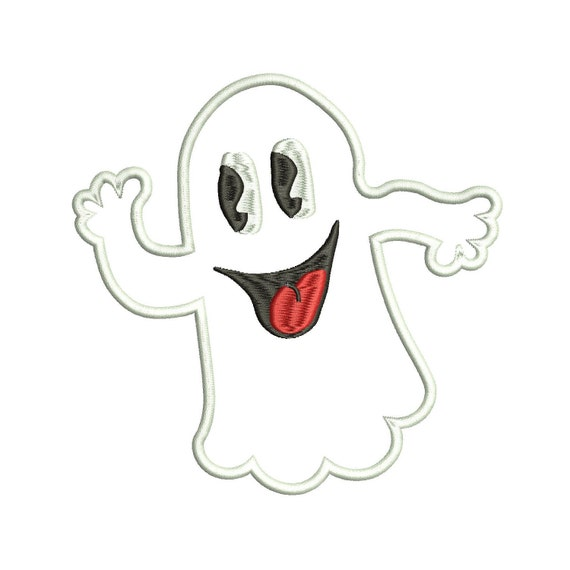 Ghost Applique Design - 3 Sizes - Instant Download