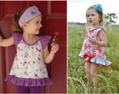 SUMMER  Top / Hi-Lo Top / Tunic - PDF pattern & tutorial - NB-6yrs / 7-12y - Girl - By LittleKiwis Closet