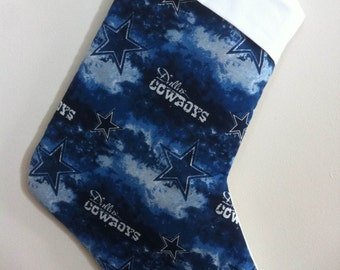 Dallas Cowboys Christmas Stocking can be personalized