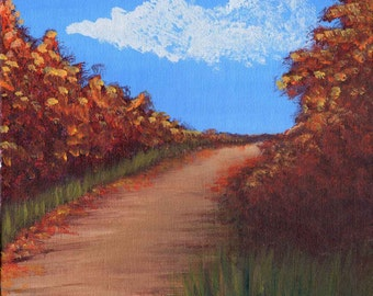 Fall Path -  Acrylic Landscape Painting