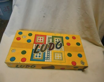 Vintage 1940's or 50's Ludo Game,  made in England, collectable