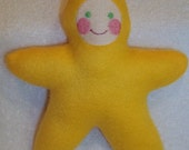 Handmade Yellow Star Baby with light face Stuffed Plush Doll Softie - Free Shipping