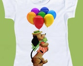 Kids Baby Toddler Girls Boys T-Shirt Birthday Party Balloons Circus One Piece Baby,Tank or tshirt by ChiTownBoutique.etsy