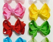 Toddler Girls Hair Bow Set Small Girls Childrens Kids Boutique  Fashion Hair Clip Hairbows Hair Accessories (Set of 8) Choose Colors