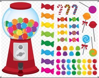 Candy Shop Set - Colorful Candies  - Digital Clip Art - Instant Download