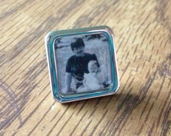 Personalized Dad - Lapel pin or Tie tack - Fathers Gift