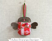 Christmas robin bird decoration Perfect for adorning Christmas trees ..... Miss Poppie Pecker ~ READY TO SHIP