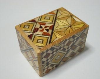 Japanese Puzzle box (Himitsu bako)- Mame 1.7inch(43mm) 10 steps Yosegi