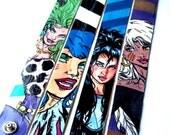 Thin Painted Misfits canvas cuff bracelets Pizazz Stormer Jetta Roxy - 4 in one