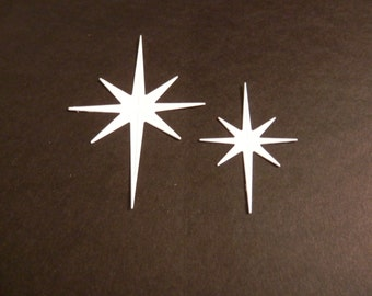 Star Lg, Star Sm.  DIE CUTS, white