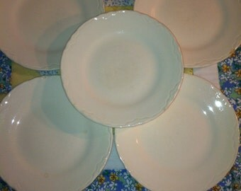 Vintage Shabby Chic  5 Piece Set of Desert Plates Made in The USA
