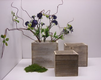 Wood Box  Vase Planter  Wedding Decor Home Decor Rustic Woodland Wedding Centerpieces Barn Wedding