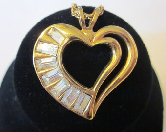 Heart to Heart - Vintage Gold Tone AVON Heart Necklace
