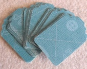 Gift Tags, Card Stock Tags, Teal, Earring Cards, Gift Wrap Tags, Price Tags, Set of 47 -  Sewing Pattern
