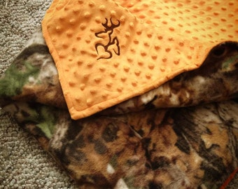 Hunting Camo Child Blankets with custom embroidery