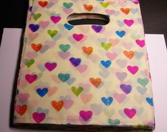 """QTY 100 - Plastic bags- Handle bags - retail bags - wholesale bags - 8""""x 10"""" - LDPD32"""