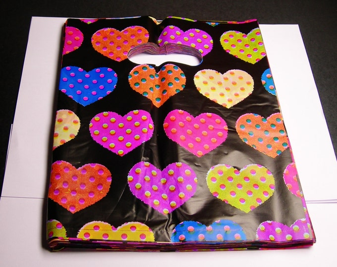 """QTY 100 - Plastic bags- Handle bags - retail bags - wholesale bags - 8""""x 10"""" - LDPD8"""