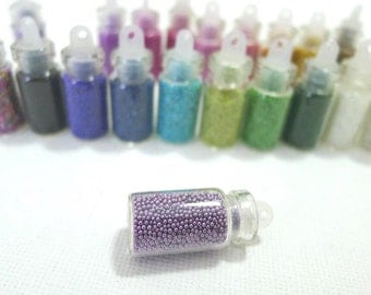 Fake Sugar Sprinkles / Micro Marbles (Lilac) - for Miniature Food Deco and Nail Art