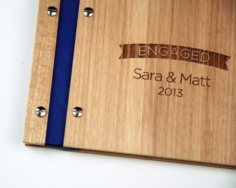 Guestbook Engagement | Wedding Album | Wood Guestbook | Engagement Gift | Shower