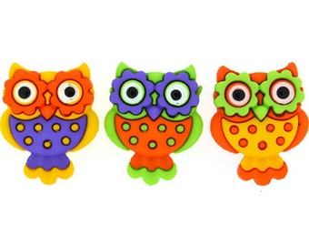 Buttons Jesse James Button Embellishments Boo... Whoo Owls Sewing Buttons Owl Bird Birds