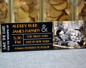 Great Gatsby Inspired Save The Date Ticket Magnet