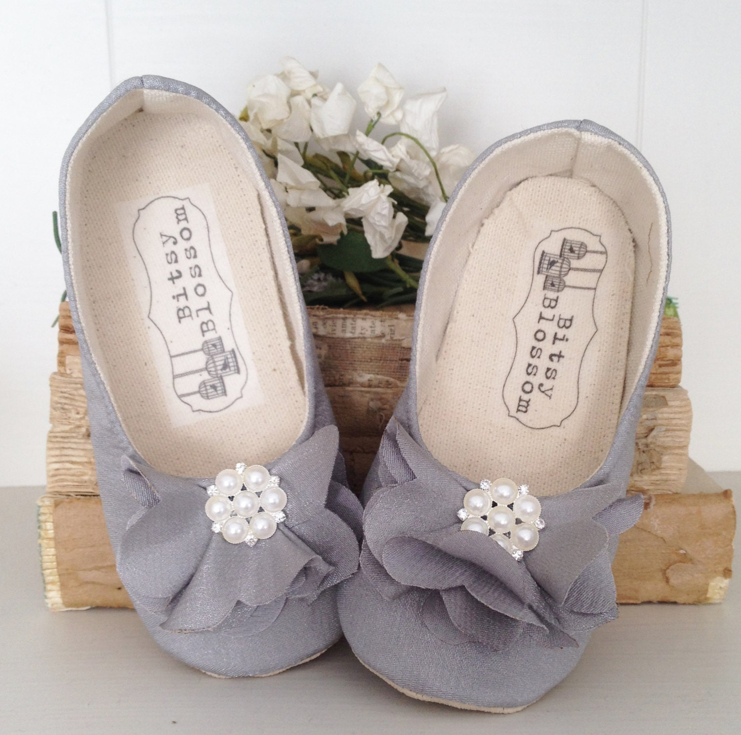 Baby girl shoes toddler girl shoes soft sole shoes wedding for Girls dress shoes for wedding