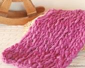 Berry  Handspun Merino Blanket - Photo Prop