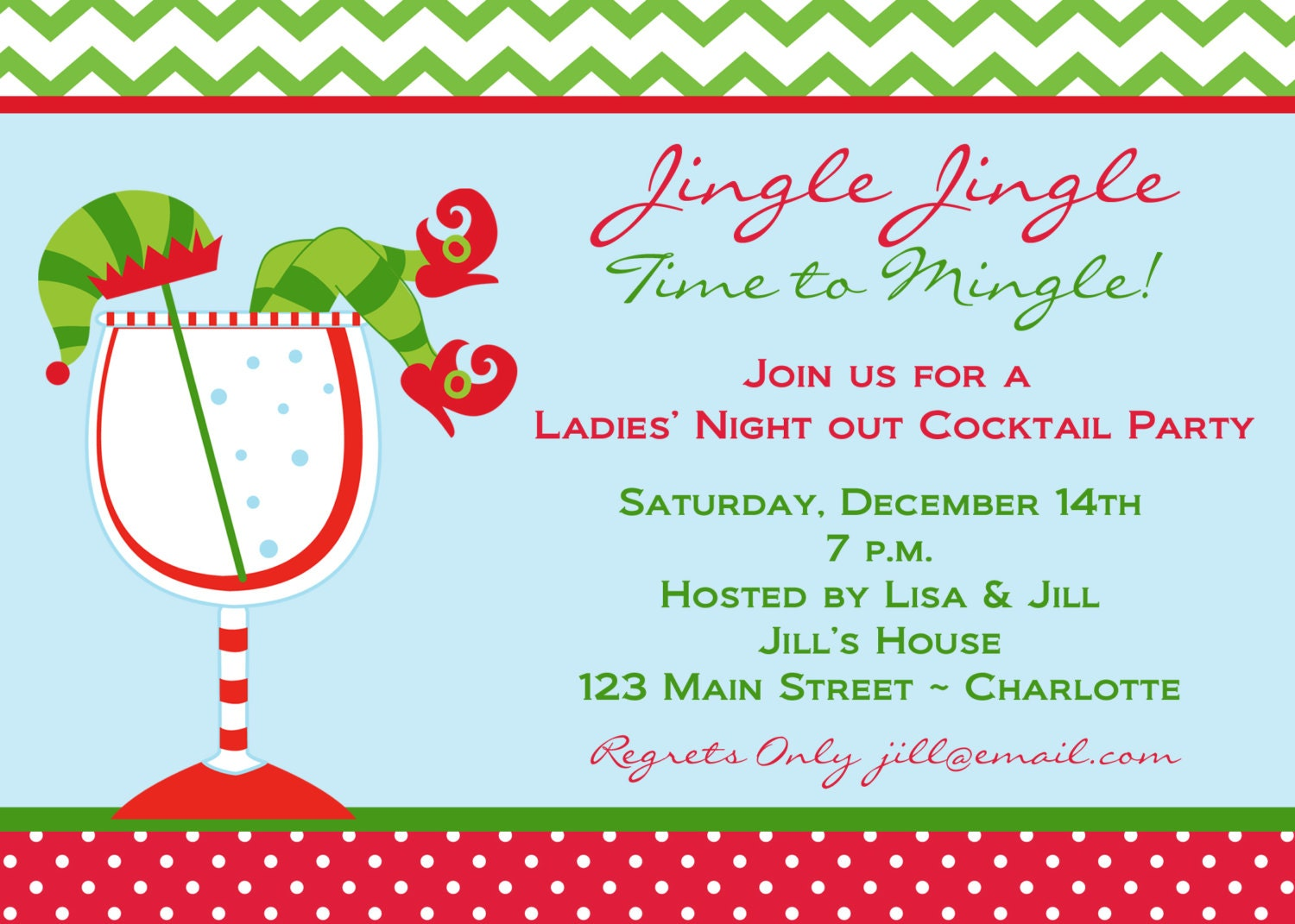 zoom - Christmas Cocktail Party Invitations