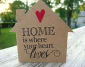 Mini House Cards Home is Where Your Heart Lives Rustic Country Home