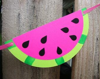 Watermelon Garland Party Banner Summer Picnic Birthday