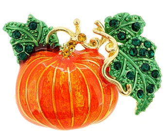 Pumpkin Halloween Brooch 1000642