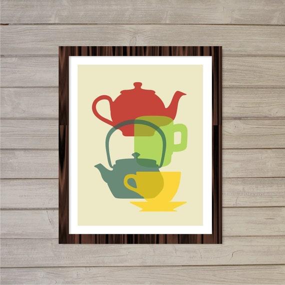 Items similar to retro kitchen printable wall art for 8x10 kitchen designs