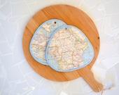 geography kitchen potholders - aqua - continent - map - africa - atlantic ocean