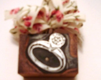 Letterpress Printers Block - Diamond Ring