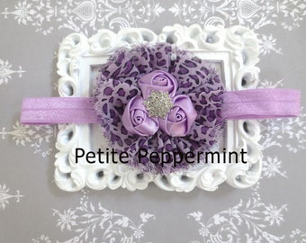 Baby headband, baby flower headband, infant headband, toddler headband, Lavender Baby Headband,Baby Head band,Baby Girl Headband