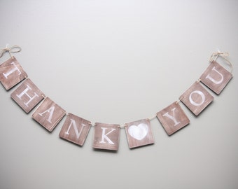 Rustic Wooden Wedding Thank You Banner