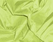 dupioni silk fabric - lime green fat quarter sld124