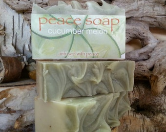 cucumber melon peace soap