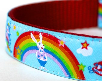 Alice In Wonderland Dog Collar / Adjustable Dog Collar - Ribbon Dog Collar