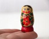 Tiny Matryoshka Babushka Doll, made in USSR