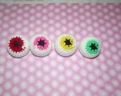 4 Handmade Crochet Catnip Eyeballs