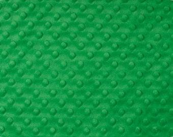 Cuddle Dimple Kelly Green Minky Shannon Fabrics, 1 Yard